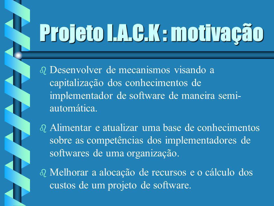 Projeto I.A.C.K : motivação
