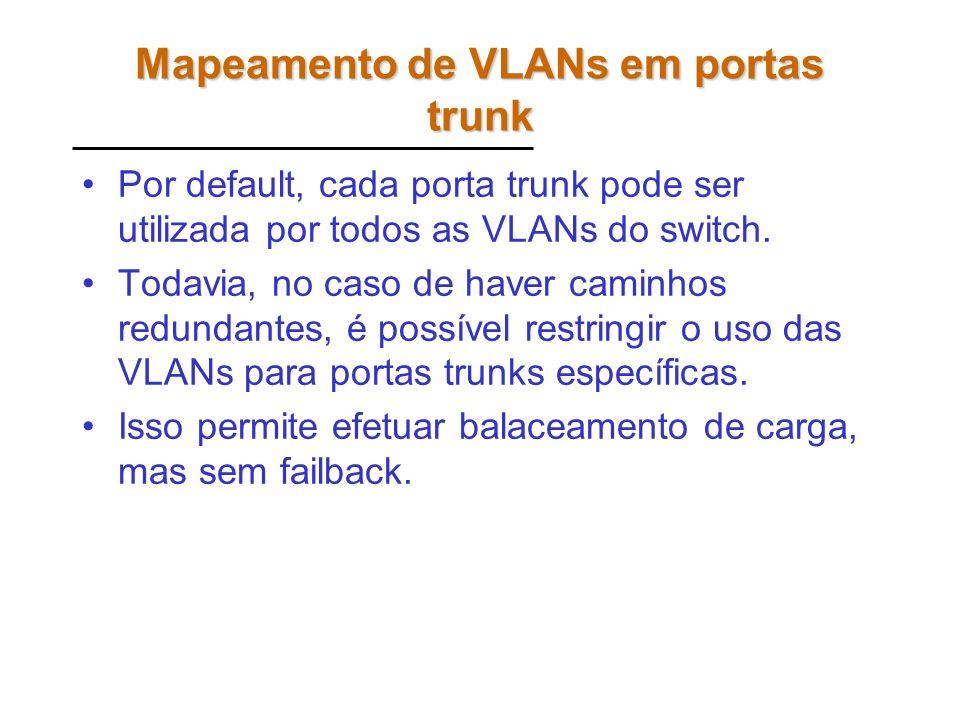 Mapeamento de VLANs em portas trunk