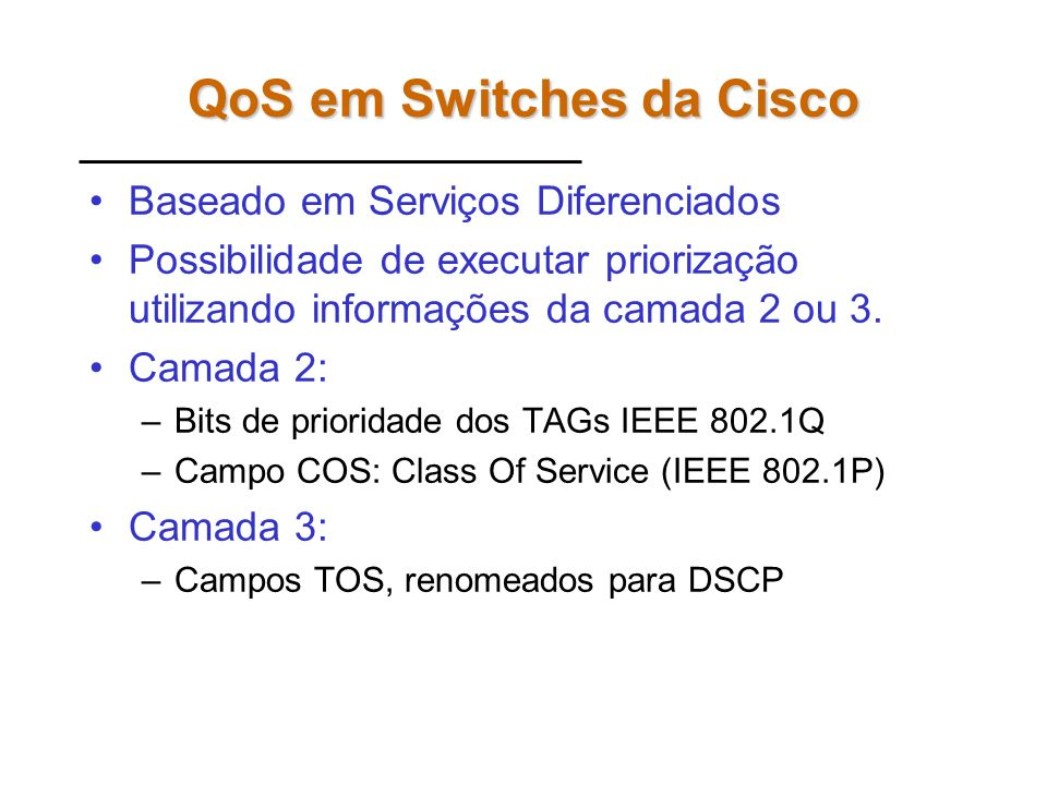 QoS em Switches da Cisco