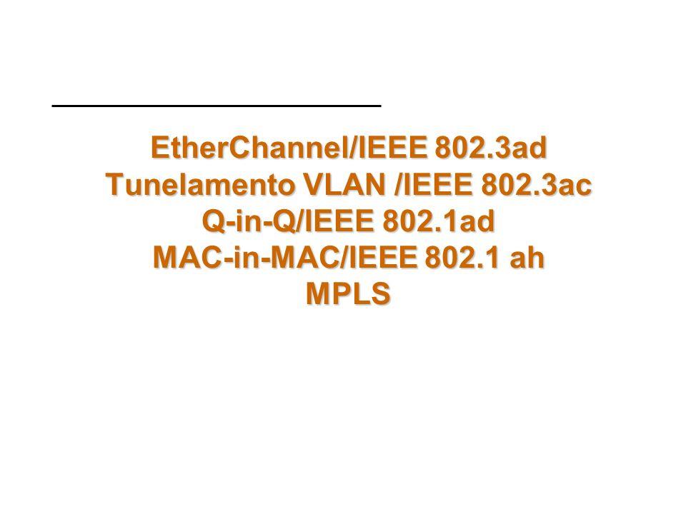 EtherChannel/IEEE 802. 3ad Tunelamento VLAN /IEEE 802