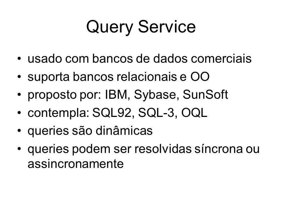Query Service usado com bancos de dados comerciais