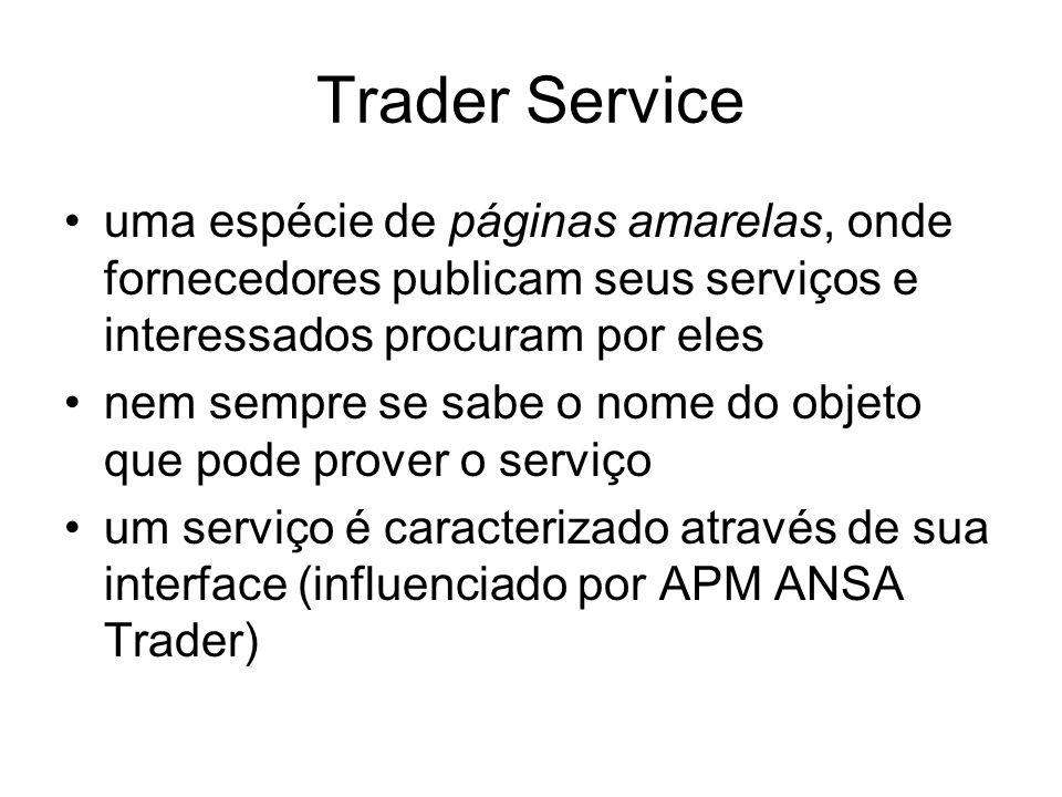 Trader Serviceuma espécie de páginas amarelas, onde fornecedores publicam seus serviços e interessados procuram por eles.