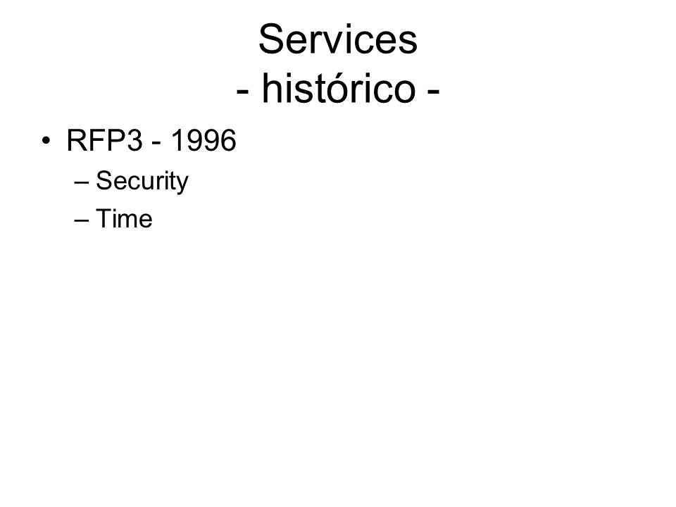 Services - histórico - RFP3 - 1996 Security Time