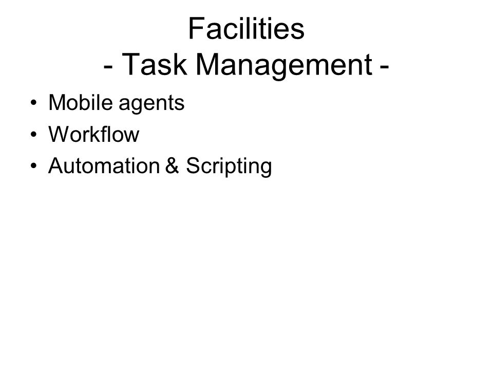 Facilities - Task Management -