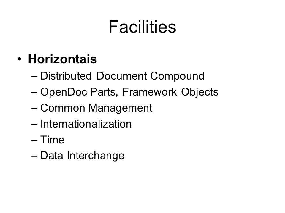 Facilities Horizontais Distributed Document Compound
