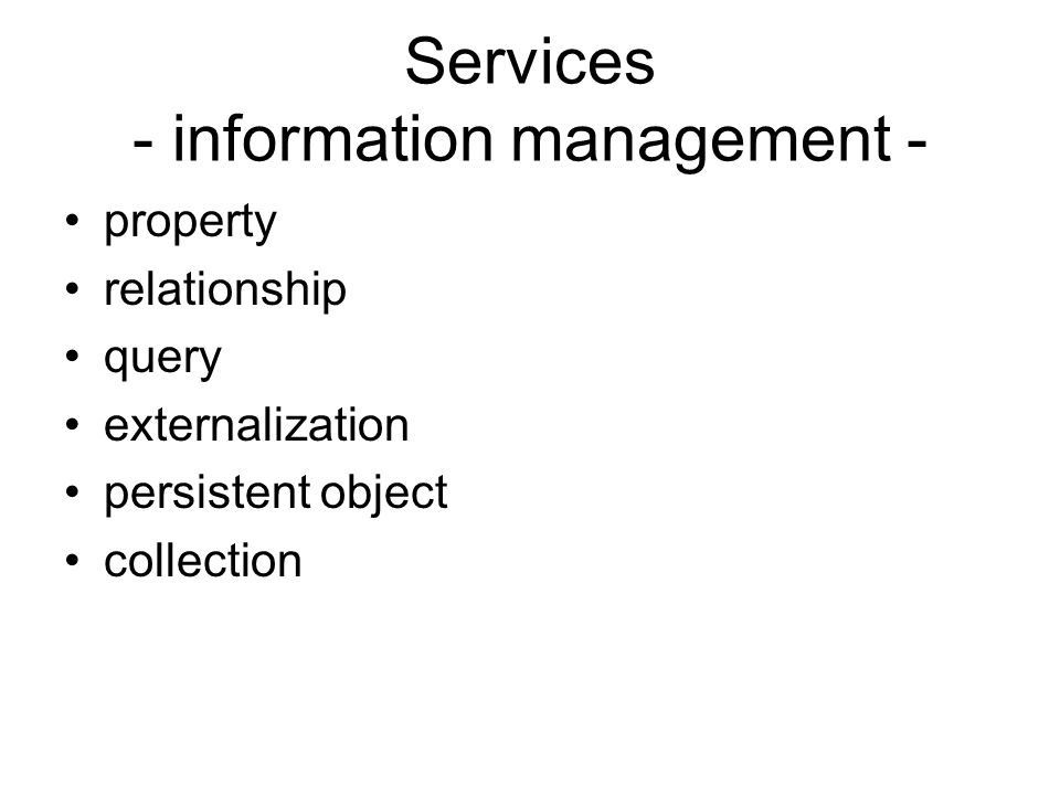 Services - information management -