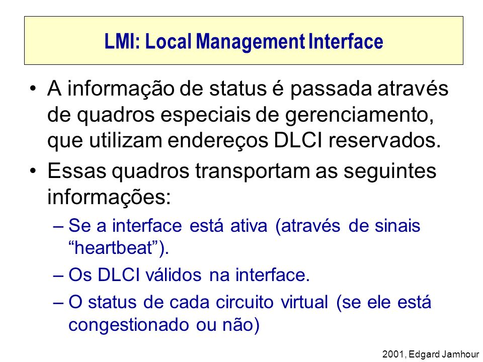 LMI: Local Management Interface