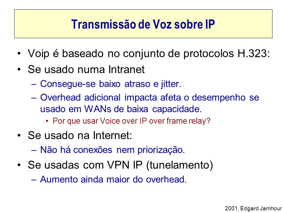 Transmissão de Voz sobre IP