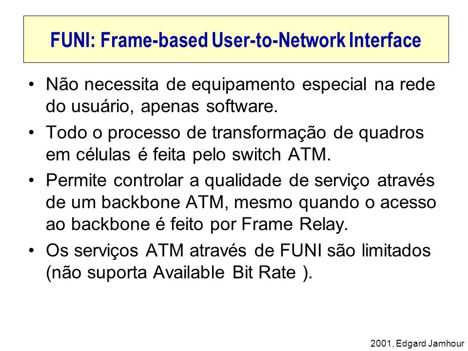 FUNI: Frame-based User-to-Network Interface