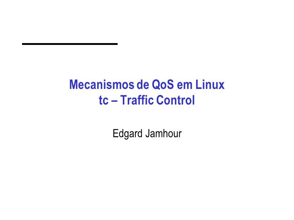 Mecanismos de QoS em Linux tc – Traffic Control