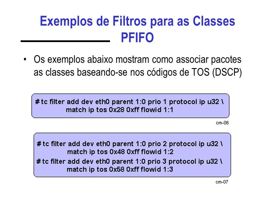 Exemplos de Filtros para as Classes PFIFO
