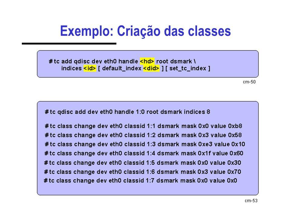 Exemplo: Criação das classes
