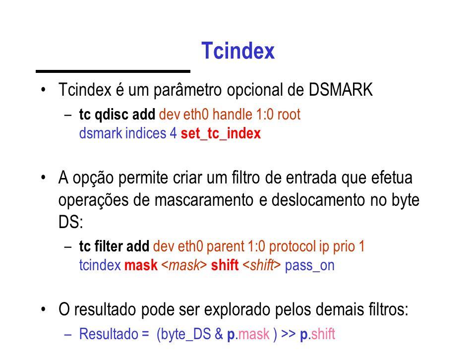 Tcindex Tcindex é um parâmetro opcional de DSMARK