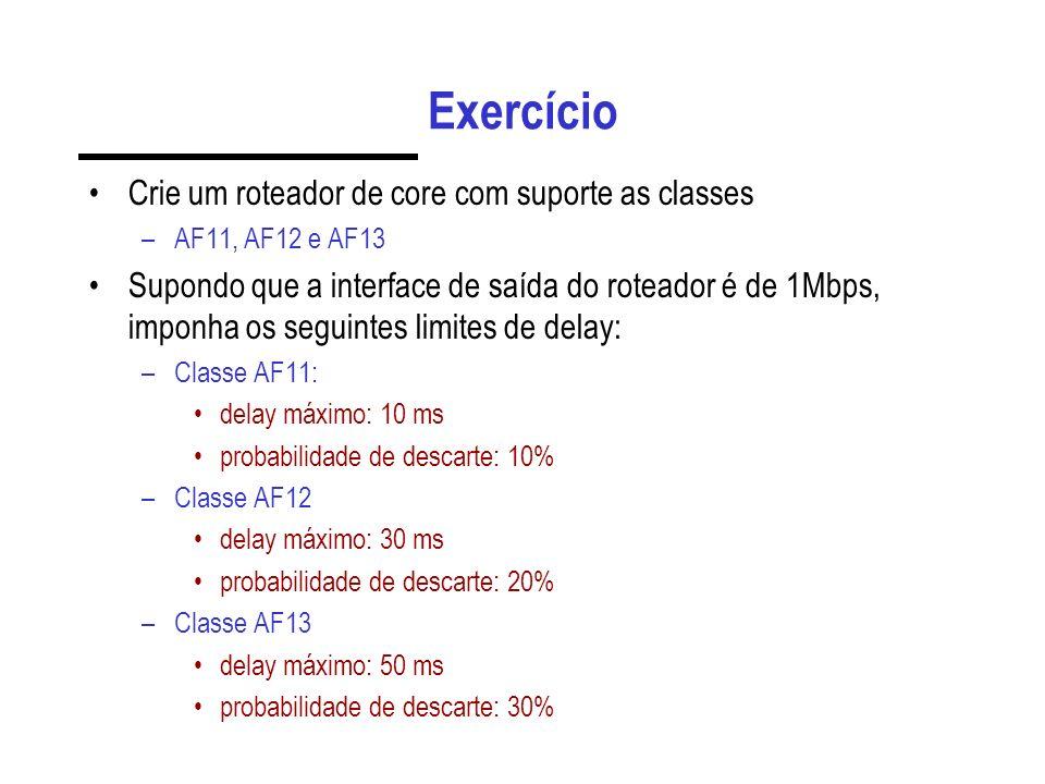 Exercício Crie um roteador de core com suporte as classes