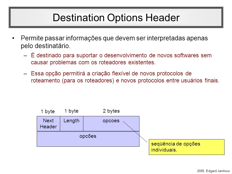 Destination Options Header