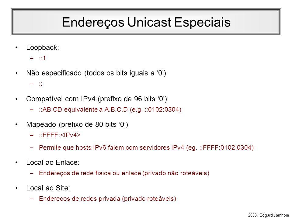Endereços Unicast Especiais