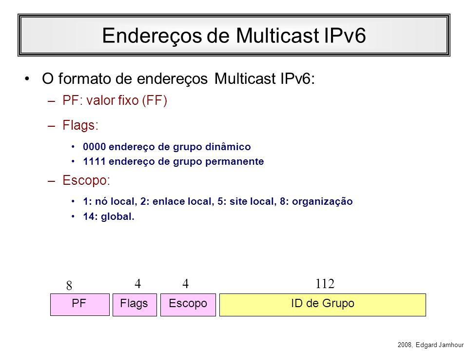 Endereços de Multicast IPv6
