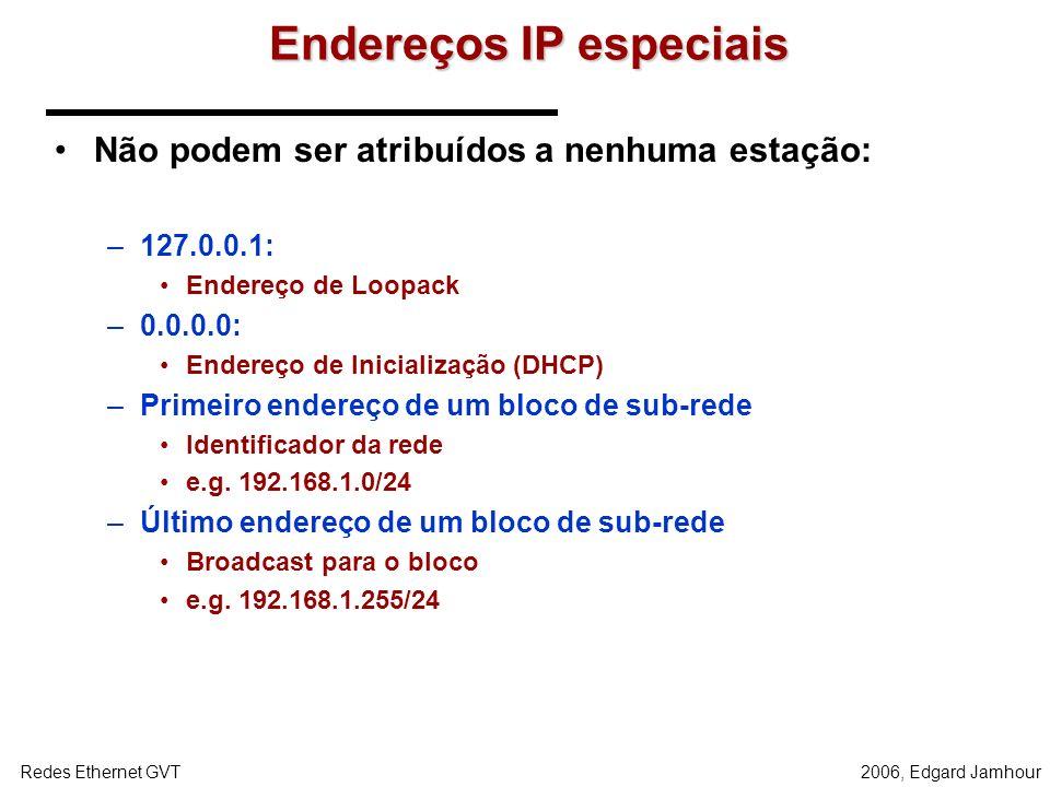 Endereços IP especiais