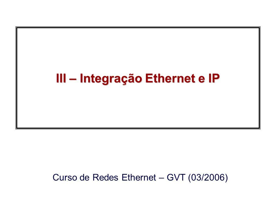 III – Integração Ethernet e IP