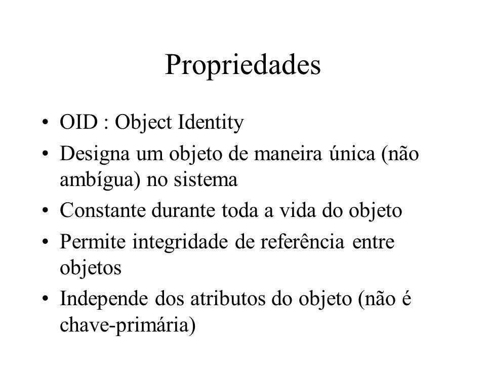Propriedades OID : Object Identity