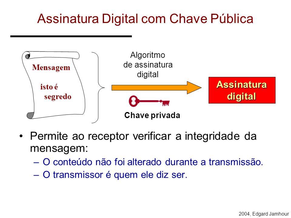 Assinatura Digital com Chave Pública