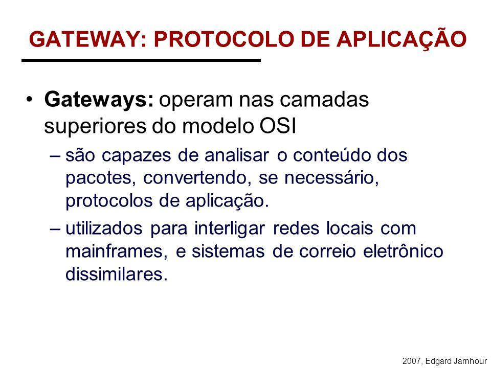 GATEWAY: PROTOCOLO DE APLICAÇÃO