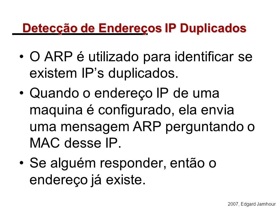 Detecção de Endereços IP Duplicados