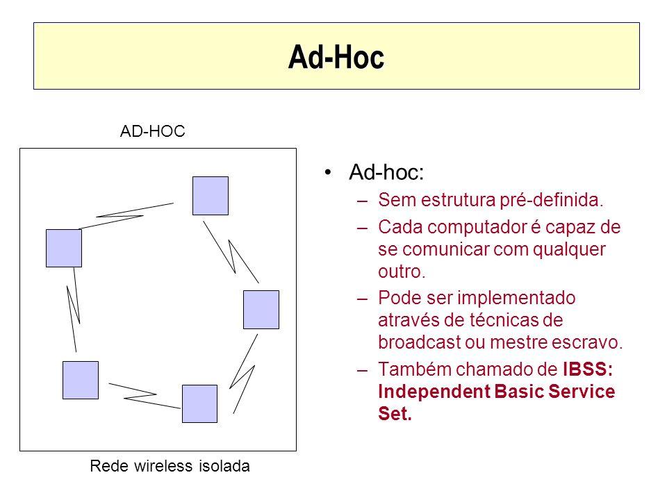 Ad-Hoc Ad-hoc: Sem estrutura pré-definida.