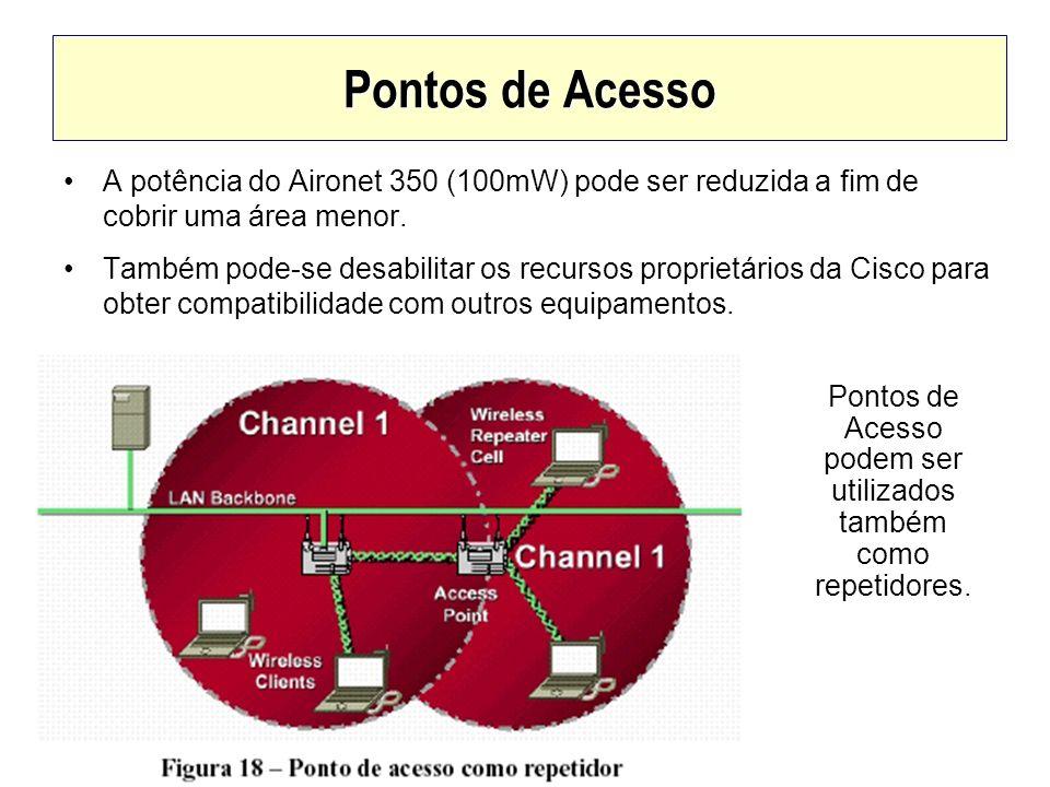 Pontos de Acesso podem ser utilizados também como repetidores.