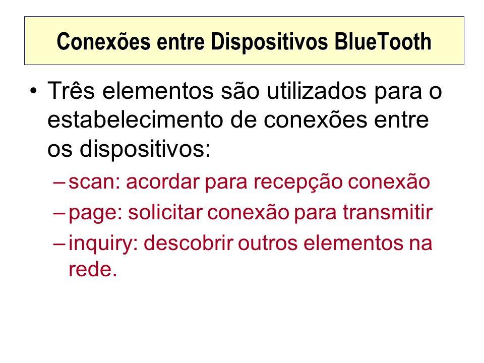 Conexões entre Dispositivos BlueTooth