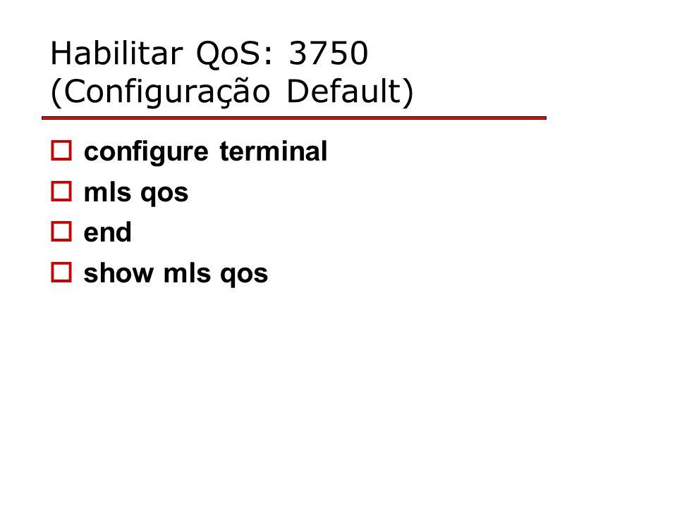 Habilitar QoS: 3750 (Configuração Default)