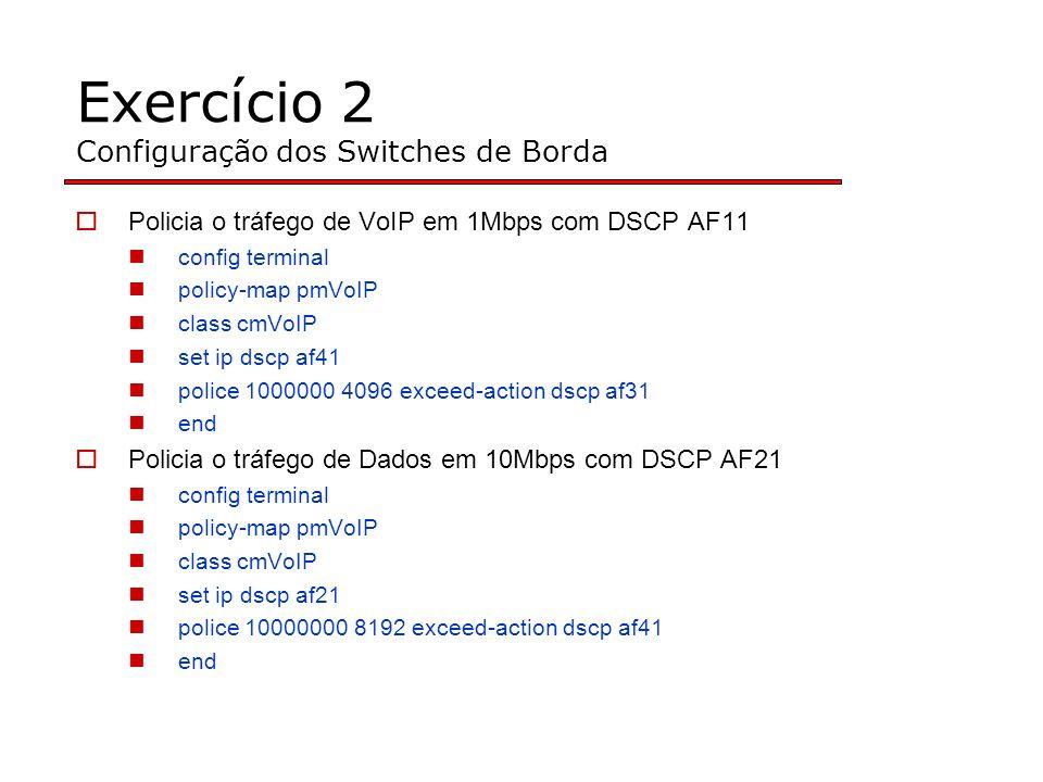 Exercício 2 Configuração dos Switches de Borda