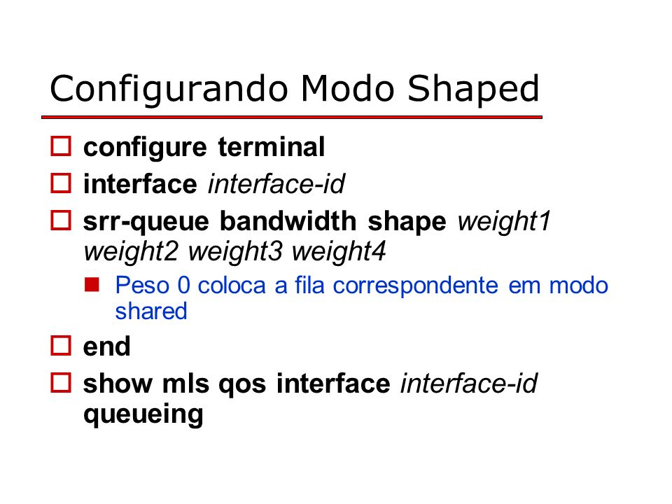 Configurando Modo Shaped