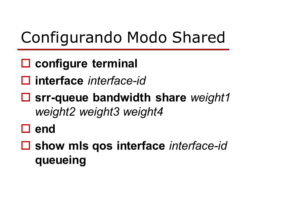Configurando Modo Shared