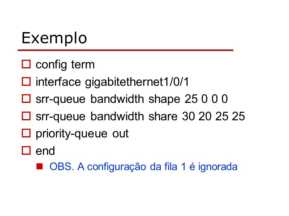 Exemplo config term interface gigabitethernet1/0/1