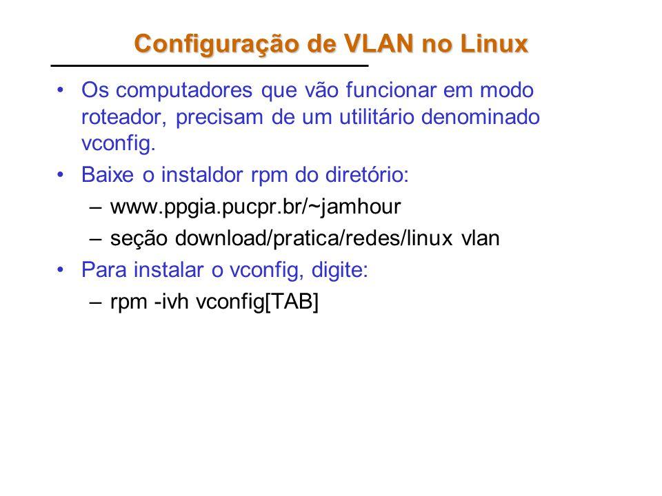 Configuração de VLAN no Linux
