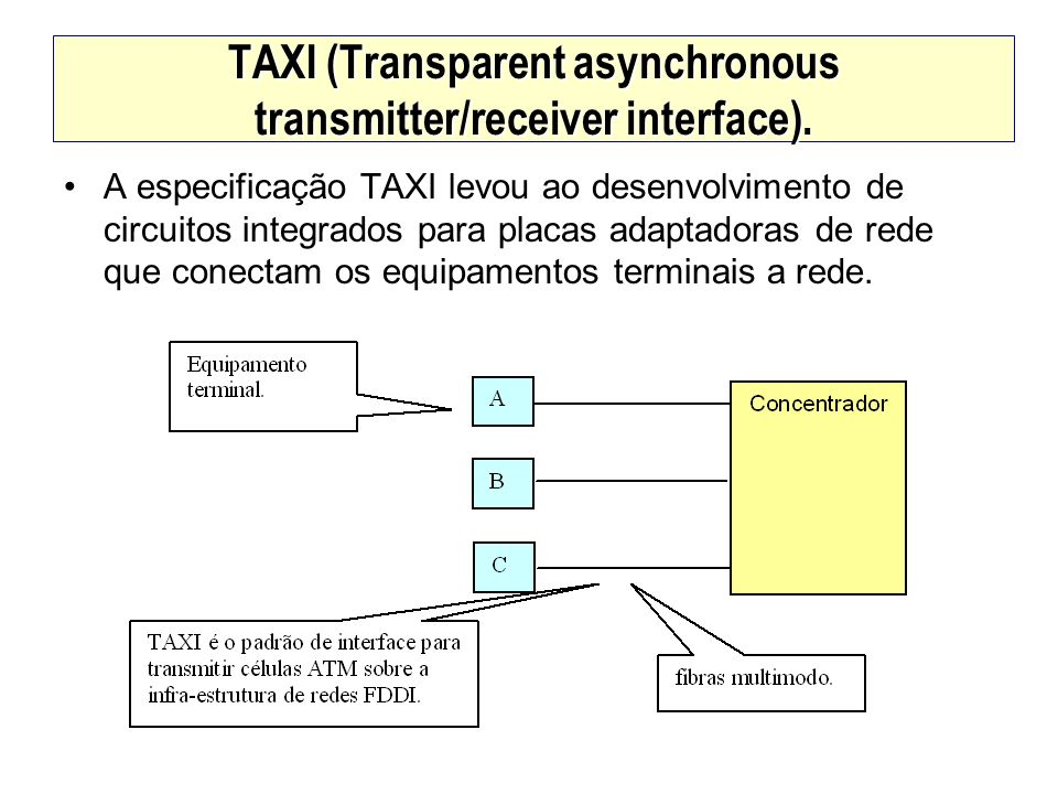 TAXI (Transparent asynchronous transmitter/receiver interface).