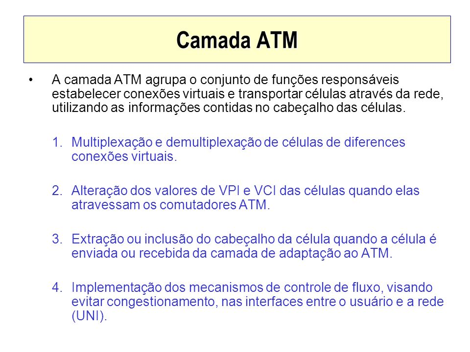 Camada ATM