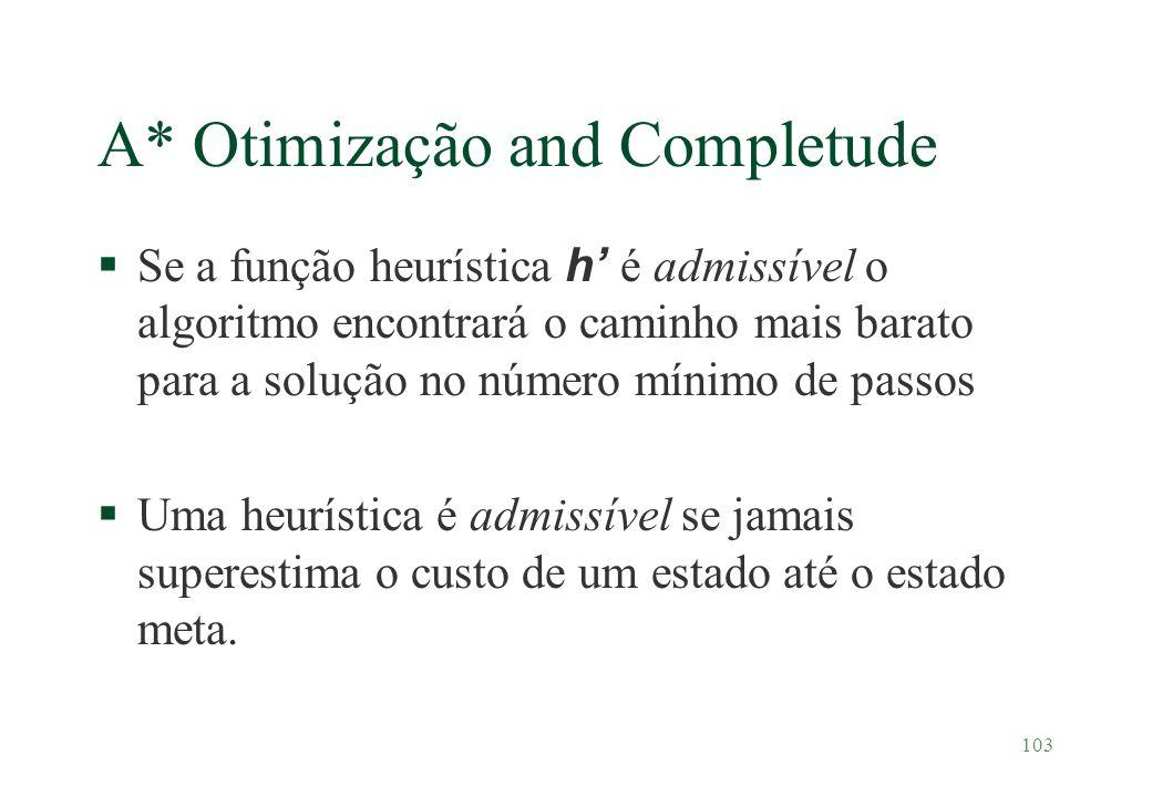 A* Otimização and Completude