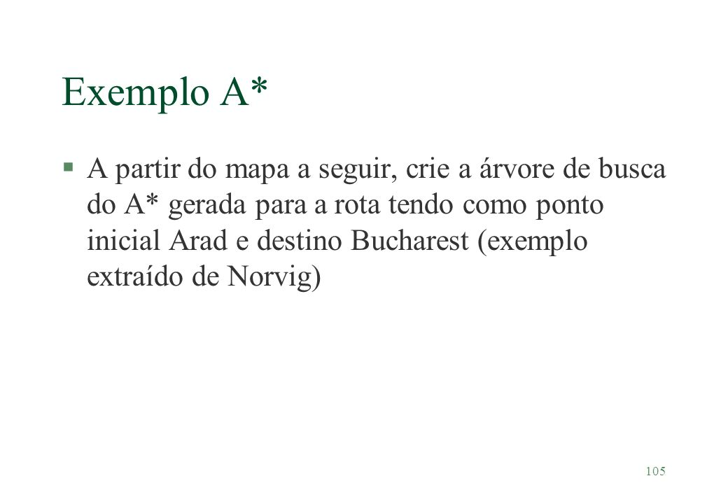 Exemplo A*
