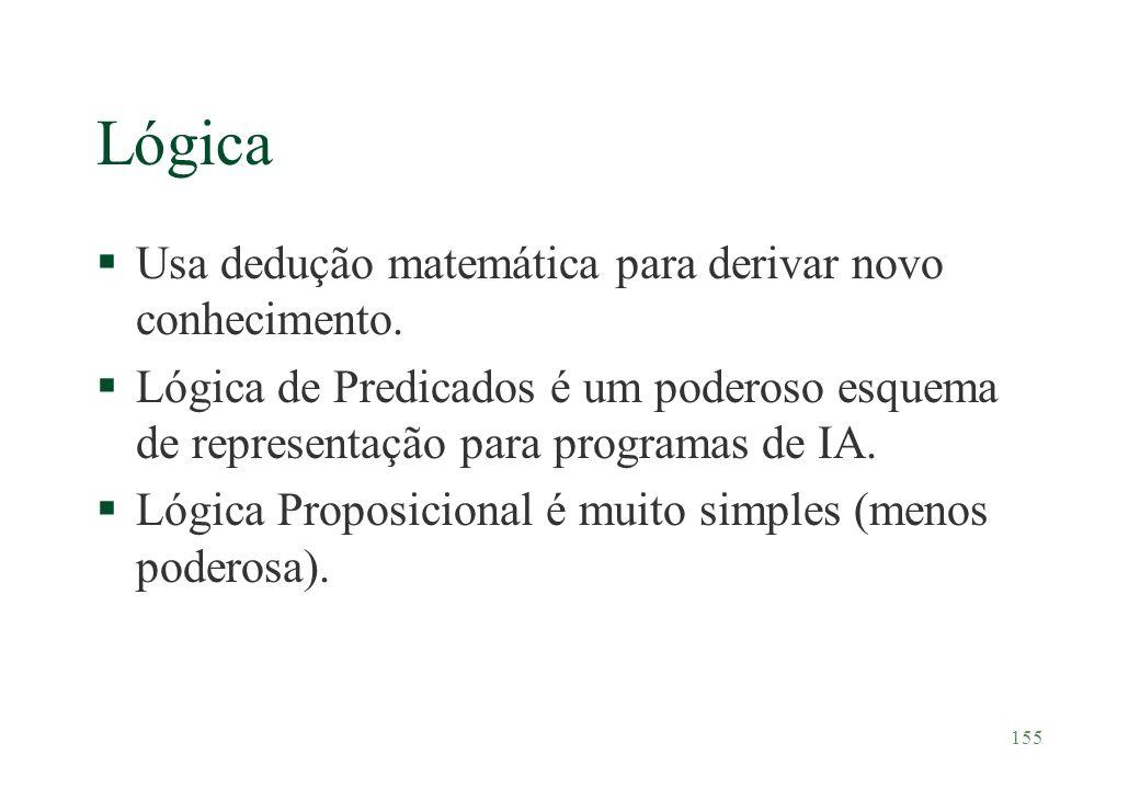 Lógica Usa dedução matemática para derivar novo conhecimento.
