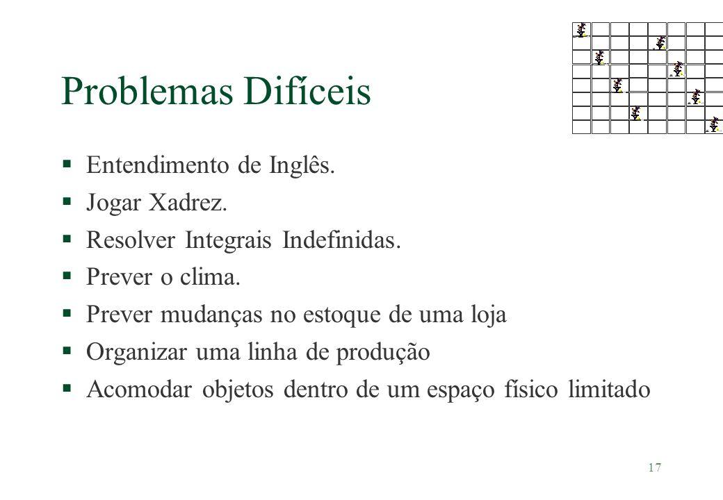 Problemas Difíceis Entendimento de Inglês. Jogar Xadrez.