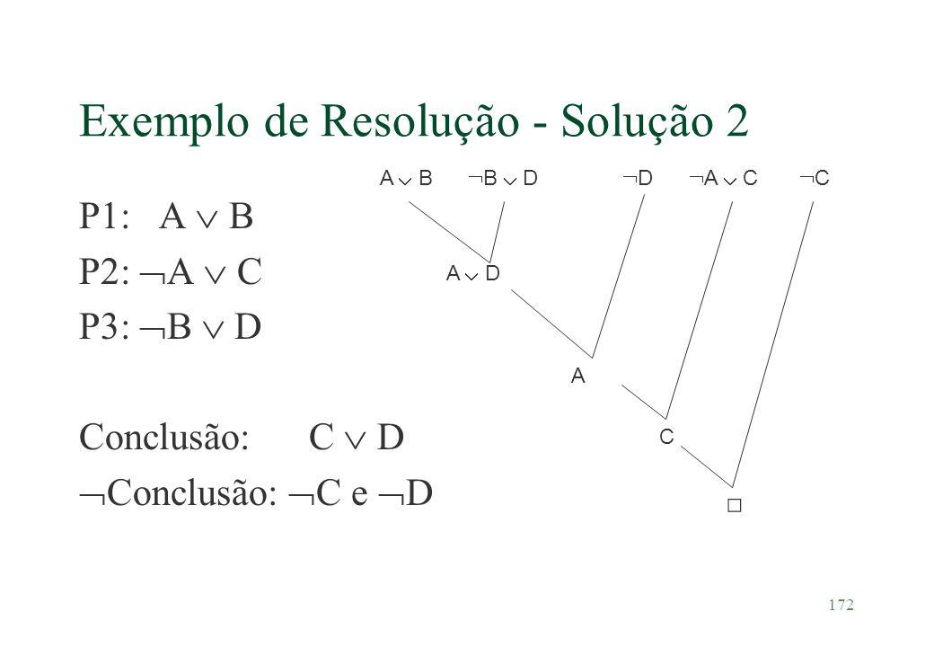 Exemplo de Resolução - Solução 2