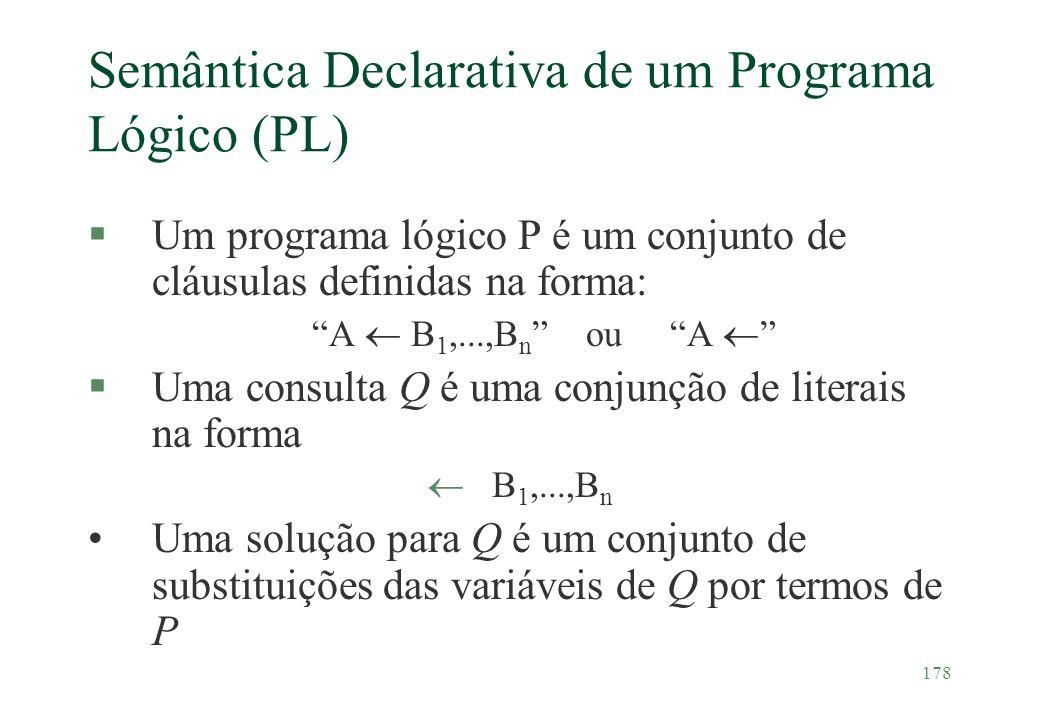 Semântica Declarativa de um Programa Lógico (PL)