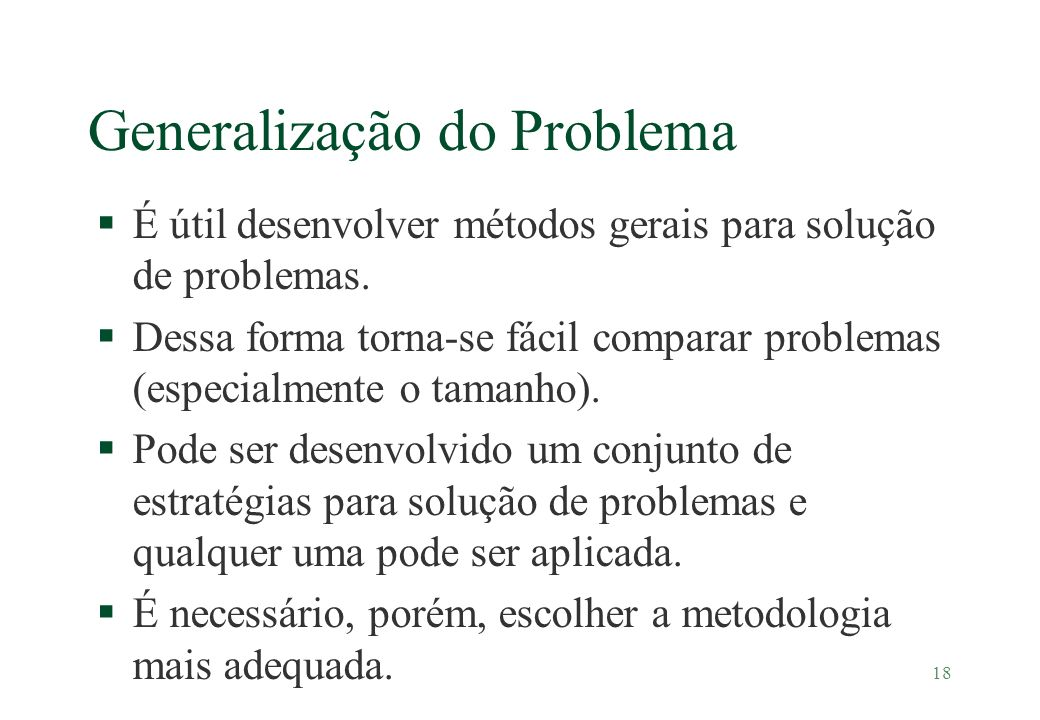 Generalização do Problema