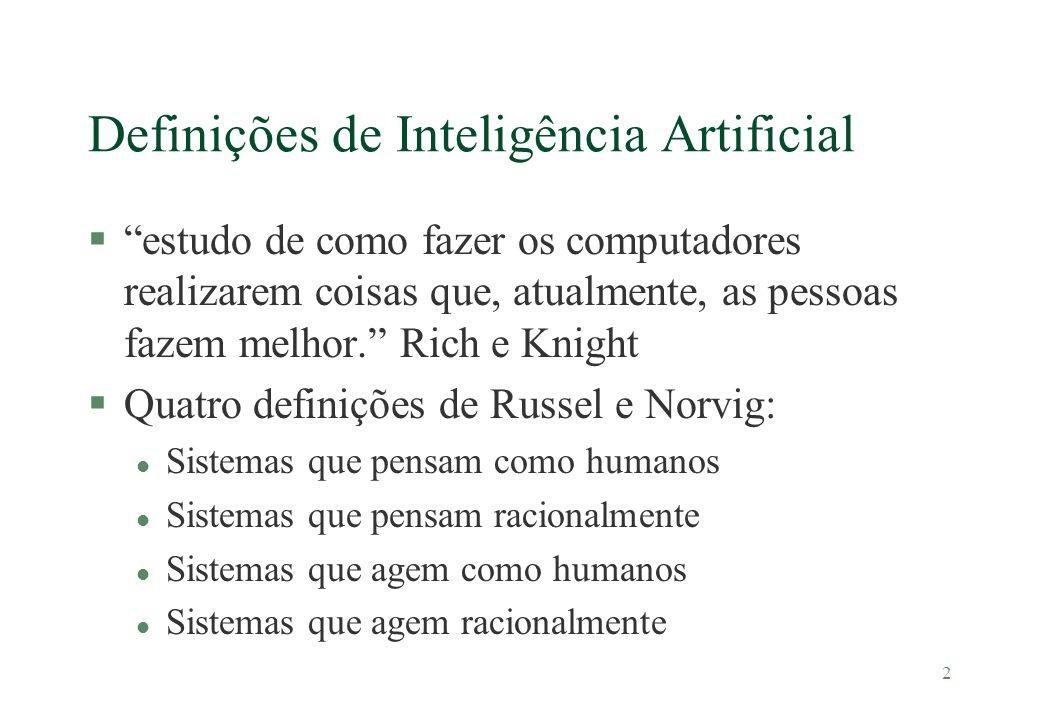 Definições de Inteligência Artificial