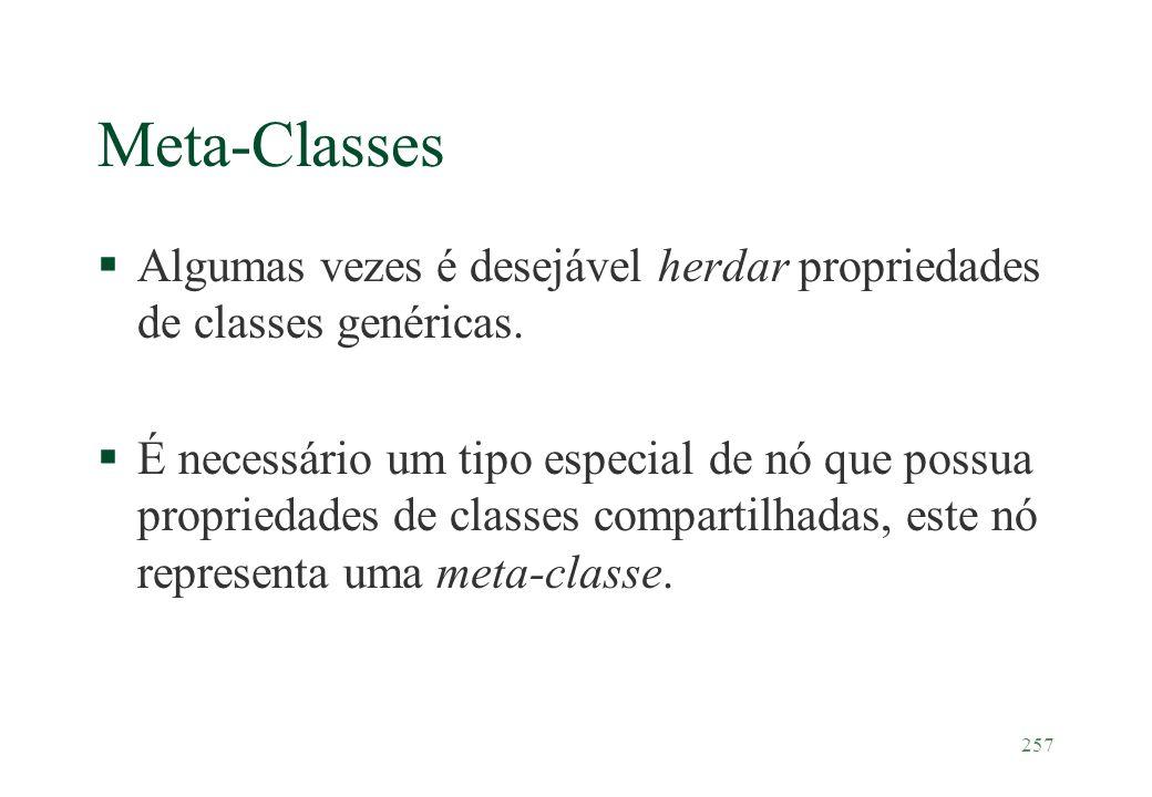 Meta-Classes Algumas vezes é desejável herdar propriedades de classes genéricas.