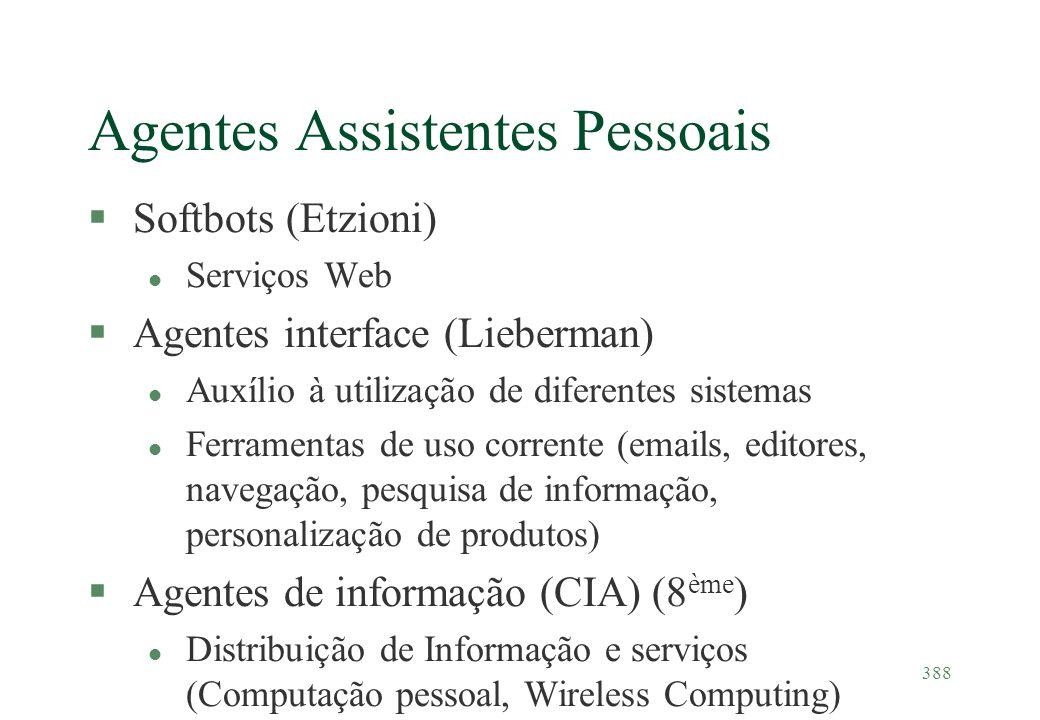 Agentes Assistentes Pessoais