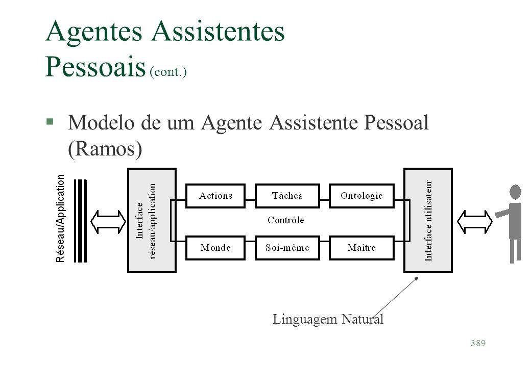 Agentes Assistentes Pessoais (cont.)