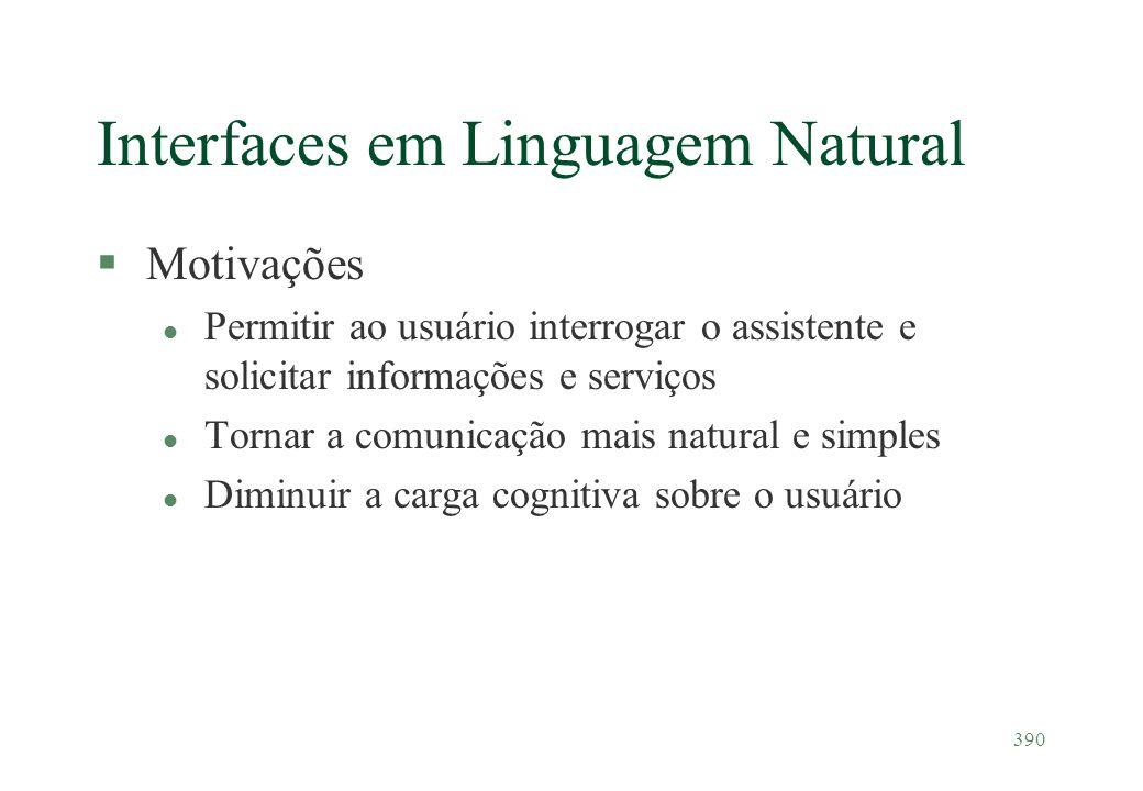 Interfaces em Linguagem Natural
